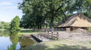 Dwarsdeelschuur kinderboerderij streekpark Kienehoef