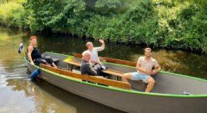Varen met de fluisterboot in Veghel